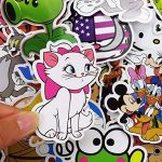 Lot de 50 pcs Autocollant – Enfants cadeaux Roi Lion, Tom & Jerry, Bob l'éponge, Pokémon, Super Mario, Scooby Doo – Le meilleur pour ordinateur portable MacBook Skateboard/Snowboard Valise iPhone Car Bike Bumper Stickers Bomb Lot – Dessin animé vintage re image 4 produit